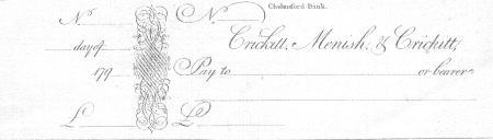 old cheque chelmsford bank