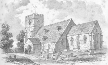 Sketch of Purleigh Church by Rev Walker